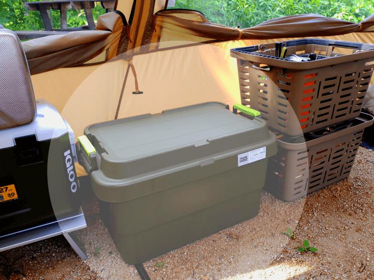 キャンプ場に置かれたボックス